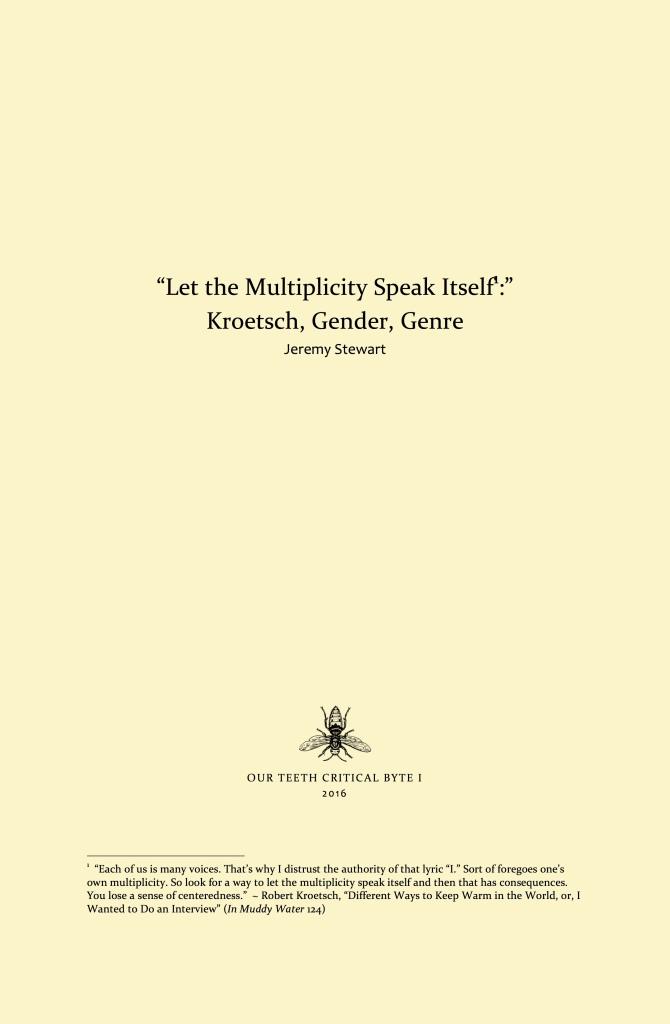 Let the Multiplicity Speak